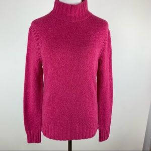 J. Crew Point Sur Pink Wool Blend Sweater Small